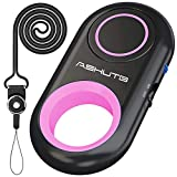 [Upgraded] Bluetooth Remote Shutter for iPhone & Android Camera Wireless Remote Control Selfie Button for iPad iPod Tablet, HD Selfie Clicker for Photos & Videos (Pink)
