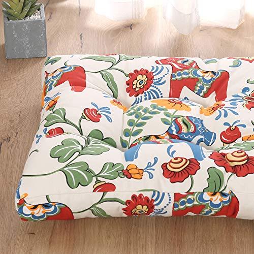 JiaQi Espesar Cojines de Asiento,Universal Almohadillas para sillas,Suave Acogedor Four Seasons Tatami Dolor de coxis para Comida Cocina Oficina Den-E 45x45cm(18x18inch)