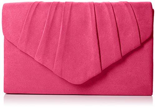 SwankySwans Womens Iggy scamosciata velluto Envelope party Prom pochette frizione, rosa (Pink (Fuschia)), Taglia unica