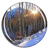 Weekino Stati Uniti America Salt Lake City Big Cottonwood Canyon Calamità da frigo 3D Cristallo Bicchiere Tourist City Viaggio Souvenir Collezione Regalo Forte Frigorifero Sticker