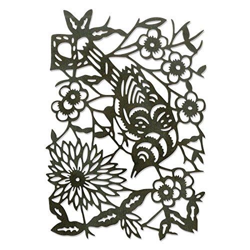Sizzix Thinlits stansen - papiersnijden vogel van Tim Holtz, staal, meerkleurig, 19,10 x 14,4 x 0,4 cm