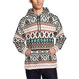 InterestPrint Mens Tribal Aztec Indians Pattern Casual Long Sleeve Slim Pocket Fit Hoodies Jacket Coat 4XL