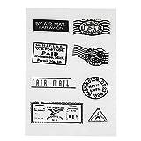 Amazingdeal365 Briefmarke Transparente Silikonstempel Set Text - Clear Stamps - Stempel -Mit Vielfalt-teilig - Schneiden Schablonen (10)