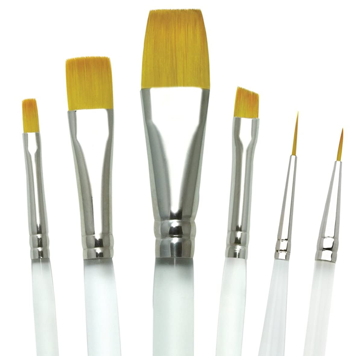 Aqualon Royal and Langnickel Short Handle Paint Brush Set, Decorative Painting, 6-Piece