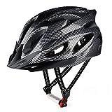 RaMokey Casco de bicicleta para adultos, hombre y mujer, cuerpo de EPS + carcasa de policarbonato, casco de bicicleta de montaña con visera extraíble y acolchado, casco ajustable 57-63 cm (negro)