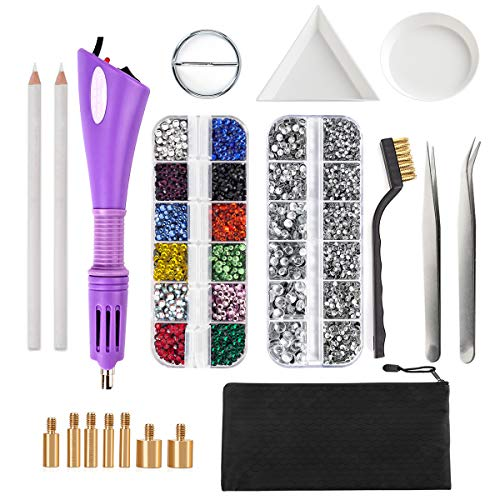 Electric Nail Art Tool for Beads with 7 Tip Sizes Rhinestone Applicator
