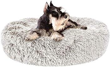 SHU UFANRO Cozy Fur Donut Cuddler Improved Sleep Dog Beds