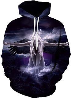 ZXXWYS New Angel Hoodies Men 3D Sweatshirt Hooded Anime Pullover Quality Hoodies Printed Fashion Tracksuit Boy Jackets