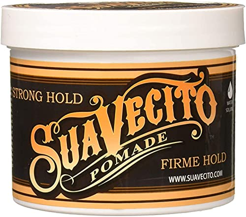 Suavecito Pomade Firme (Strong) Hold 32 oz, 1 Pack - Strong Hold Hair Pomade For Men - Medium Shine Water Based Wax Like Flake Free Hair Gel - Easy To Wash Out - All Day Hold For All Hair Styles