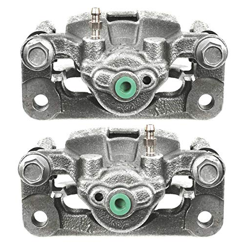 AutoShack BC30290PR Rear Brake Caliper Pair 2 Pieces Fits Driver and Passenger Side