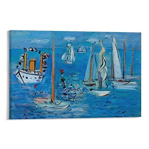 Raoul Dufy The Artist Poster Textile Design Poster Cool Artworks Painting Wall Art Canvas Prints Hanging Picture Home Decor Posters Gift Idea 08×12inch(20×30cm)