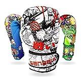 Sanabul Sticker Bomb Adult Boxing Kickboxing Training Gloves (Manga Action, 14 OZ)