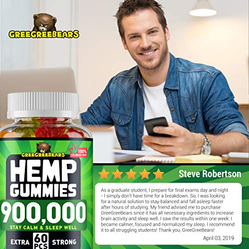 Hemp Gummies - 30000 MG - Premium Stress & Anxiety Relief - Made in USA - 100% Natural & Safe Oil Gummies - Mood Enhancer & Immune Support - Rich in Vitamins B, E & Omega 3 - 90 PCS