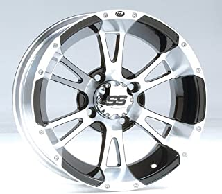 ITP SS ALLOY SS112 Black Wheel with Machined Finish (14x8