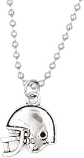 """21.6"""" 2.4mm Stainless Steel Ball Chain Necklace Football Helmet 31N"""