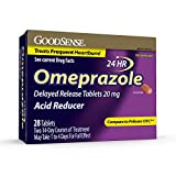 GoodSense Omeprazole Delayed Release Tablets 20 mg, Acid Reducer, Treats Frequent Heartburn, 28 Count