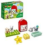 LEGO Duplo Town Gli Animali della Fattoria, Giocattoli per Bambini 2+ Anni con Anatra, Maiale, Pecora e Gatto, 10949