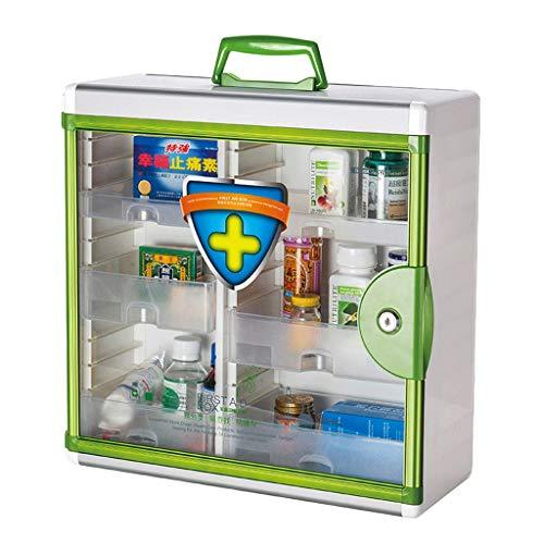 Leileixiao Caja de píldoras para medicamentos ambulatorios de emergencia médica caja de almacenamiento de aluminio para el hogar (color: verde)