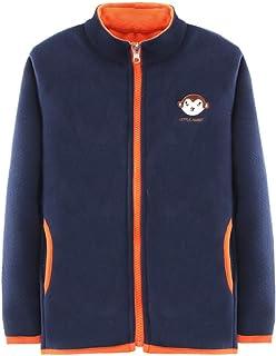 HILEELANG Boy Girl Polar Fleece Jacket Little Kids & Toddler Hoodie Full-Zip Sweatshirt Outerwear Jacket Coat