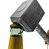 AGAN 2020 Botella Nueva Plata Abridores multifunción Martillo de Thor en Forma de Botella abrelatas con Mango Largo Embotellador abridor