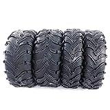 MOTOOS Set of 4 All Terrain ATV UTV Tires 26x9-12 Front & 26x11-12 Rear 6-PR P377 Tubeless