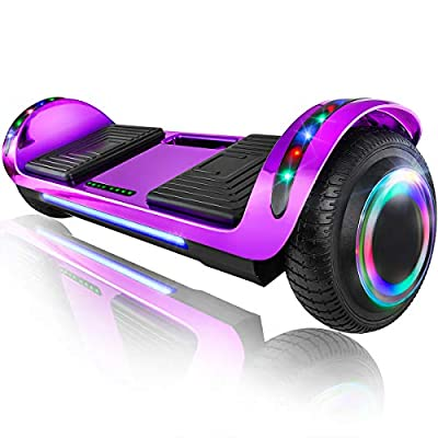 "XPRIT 6.5"" Hoverboard Self-Balance Two Wheel w/Built-in Wireless Speaker (Chrome Violet)"