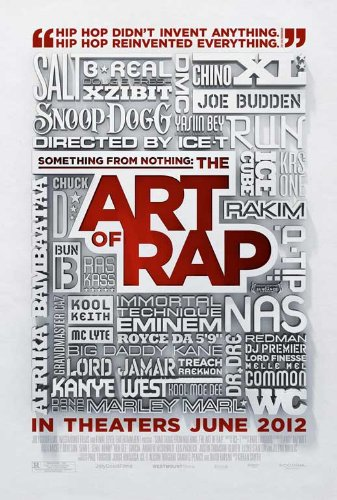 Something from Nothing: The Art of Rap (2012) 11 x 17 Movie Poster Style A Bun B, B-Real, Afrika Bambaataa, Busy Bee, Joe Budden