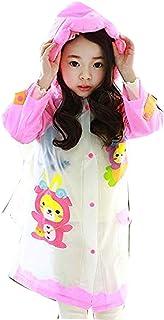 V4U Kids Girls Cartoon Printed Raincoat with School Bag(Pink)-(Pack of 01)