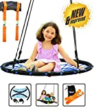 Trailblaze Spider Web Swing for Kids - Round Net Tree Swings w/ Hanging Kit 2 Straps - Holds 650 lbs Extra Strong Outdoor Web Tire Swing - Dreamcatcher Swing Easy to Hang