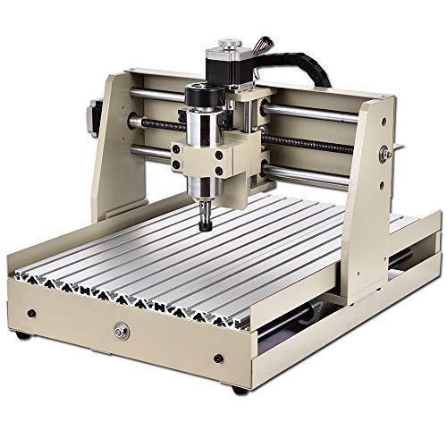 OUKANING Fresadora de 4 ejes 3040 DIY Desktop CNC Router Grabadora 3D Tallado de perforación