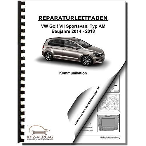 VW Golf 7 Sportsvan (14>) Radio, Telefon, Kommunikation - Reparaturanleitung