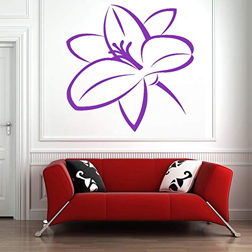 wZUN Lily Tatuajes de Pared Lily Rose Flor de Diente de león Tulipán Planta Vinilo Etiqueta de la Pared Dormitorio Sala de Estar 68x68cm