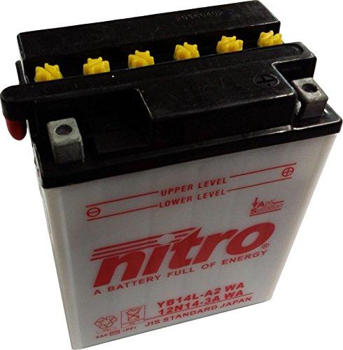 Batterie für KAWASAKI 500ccm GPZ 500 S Baujahr 1987-2004 (YB14L-A2)