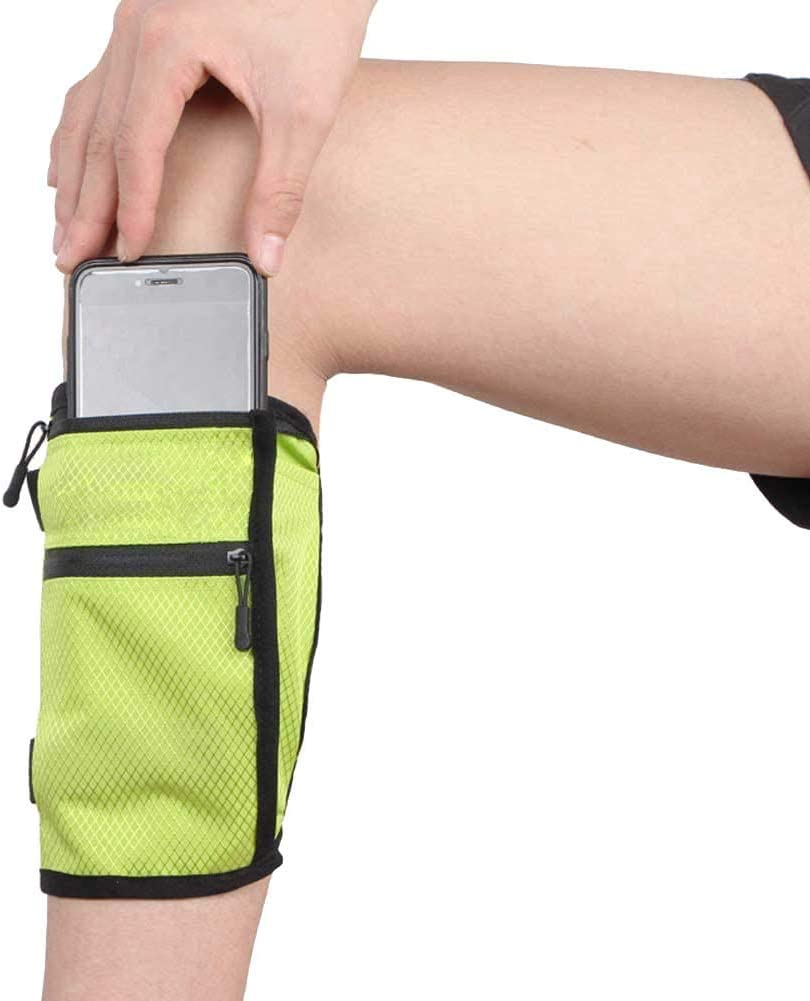 Ailzos Cell Phone Calf/Leg Band Phone Holder for Riders and Hikers, Non-Slip Band Smartphone Holder for All Phones with Adjustable Velcro, Sport Leg Band for Running, Equestrian, Motorcycle, Green