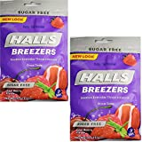 Halls Breezers Drops Sugar Free Cool Berry 20 Each (Pack of 2)