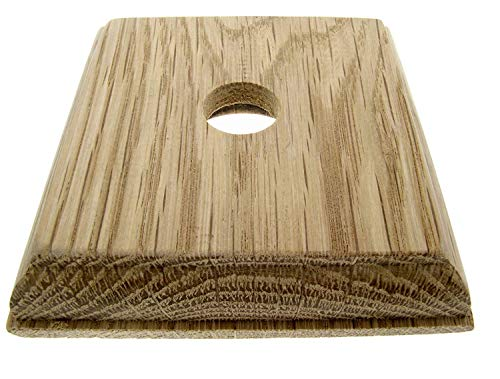Confezione da 2 interruttori quadrati in legno di quercia naturale di alta qualità per 1 interruttore a levetta, Dolly, Period, Vintage e bachelite