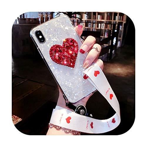 Notre Dame Funda suave para iPhone 11 Pro Max 8 7 6S 6 Plus X XS Max XR Bling Diamond Case Cover para iPhone 11 Pro con correa