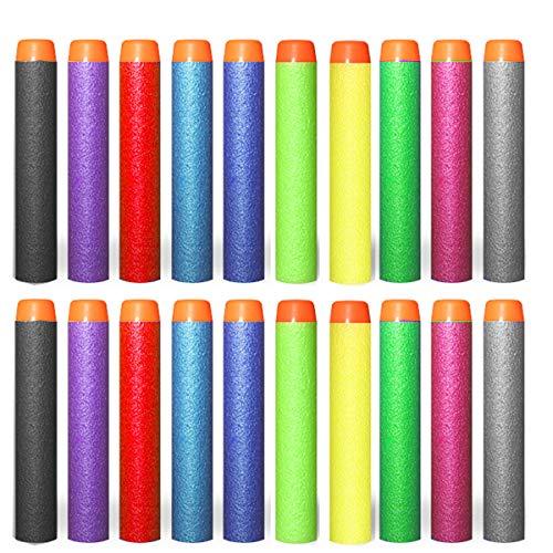dancepandas 200er Pfeile Zubehör für Nerf Gun Box-verpackung Darts für Nerf N-Strike Elite Series Blasters Pistole - 10 Farben