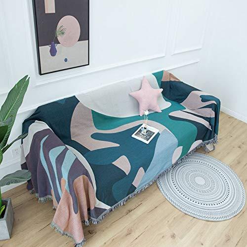 LMDY Home Decor BlanketNordic sofa cover retro leaf dust-proof non-slip sofa towel sofa cover180*300CM