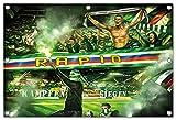 Ultras-Art Rapid kämpfen und Siegen Bild auf PVC Plane/PVC Banner inkl Ösen, Maße: 120x80 cm