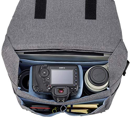 HAKUBA カメラバッグ プラスシェル シティ04 メッセンジャー L 天面からクイックアクセス グレー SP-CT04-MBLGY