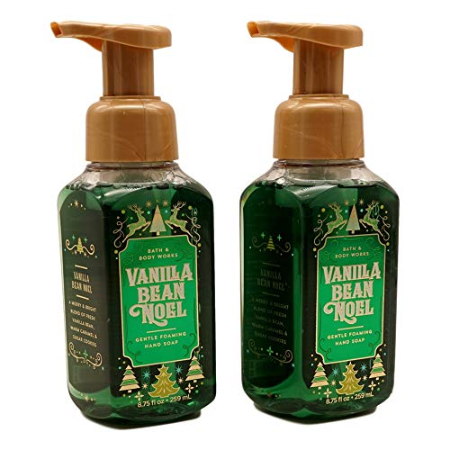 Bath and Body Works 2 Vanilla Bean Noel Gentle Foaming Hand Soap. 8.75 Oz.