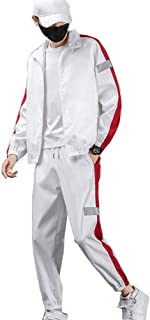 Men's Jogger Tracksuit 2 Piece Athletic Sweatsuits Full Zip Running Jogging Sports Suits