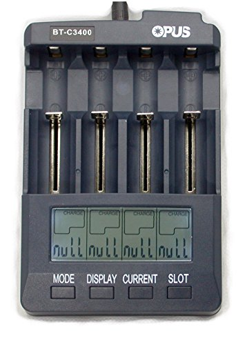 C3400 Battery Charger Tester Analyzer Li-ion NiMH NiCd with Car Adapter AAA AA C 18650