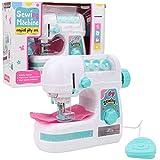 Goick Máquina de Coser de Juguete, máquina de Coser eléctrica de tamaño Mediano, Juguete para niños y niñas, Juguetes educativos