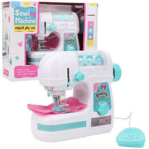 Zerodis Sewing Machine Toy, Mini Portable Electric Medium Size Sewing Machine Toys with Needle Protector Kids Children Girls Educational Interesting Toy