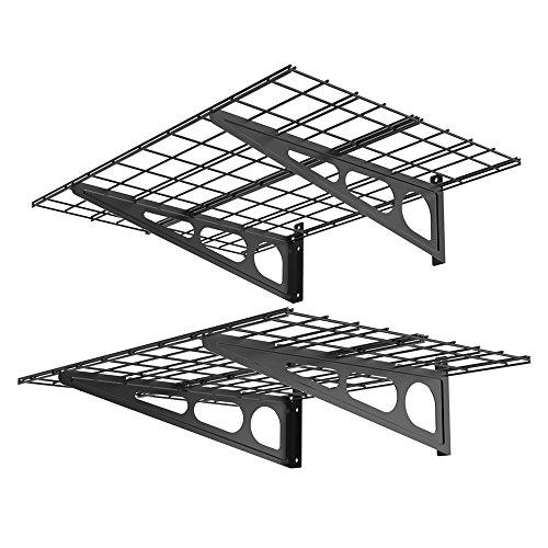 Fleximounts WR24B 2' x 4' Black Steel Shelves