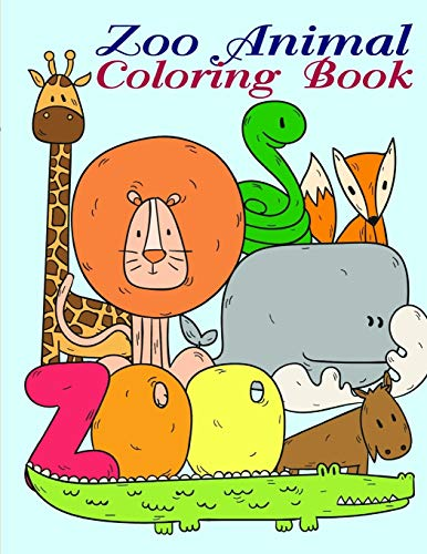 Zoo Animal Coloring Book: Christmas Book Coloring Pages with Funny, Easy, and Relax (Animals manga, Band 16)