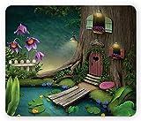 Alfombrilla de ratón de Maquillaje, Smile es la Mejor caligrafía Dibujada a Mano Letras de Felicidad Inspirada, Alfombrilla de Goma de Goma Antideslizante de tamaño estándar, púrpura negro-8JX