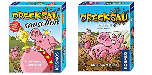 KOSMOS Spiele 740375 - Drecksau Erweiterung Sauschön, Kartenspiel & 740276 - Kartenspiel Drecksau